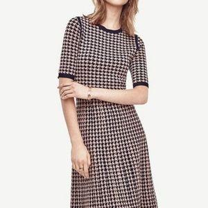 Ann Taylor Houndstooth Sweater Dress
